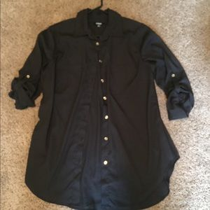 Black and gold button down shirt